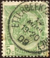 """COB   56  (o) Oblitération """"Etterbeek (Chée St Pierre)"""" - 1893-1907 Armoiries"""