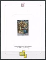 Lussemburgo 1995 Mi. 1385 Nuovo ** 100% Prova Colore Natale - Blocchi & Foglietti