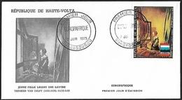 1973 - HAUTE-VOLTA - FDC - Y&T 145 [PA - Johannes Vermeer] + OUAGADOUGOU - Haute-Volta (1958-1984)