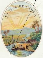 Fin 1800 étiquette Boite à Cigare Cigares - Etichette