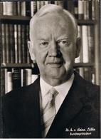 Postkarte Bundespräsident Heinz Lübke Von 1968 Siehe Scan - Historische Persönlichkeiten