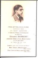 Souvenir Edouard Barbery Décédé Le 24 Juin 1940 à Cholet. - Religion & Esotericism