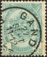 "COB   56  (o) Oblitération ""Gand "" T1L - 1893-1907 Armoiries"