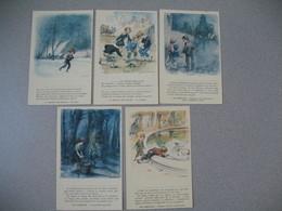 CPA    A. Victor Hugo Poète De L'enfance Avec 5 Cartes  Illustrateur  Poulbot,F. - Poulbot, F.