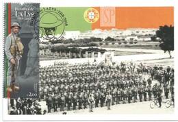 1st World War WW1 Portugal Postal Máximo Batalha De La Lys 1918 2018 Maximum Maxicard Première Guerre Mondiale - Guerre Mondiale (Première)
