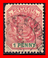 SUID AFRICA SELLO AÑO 1900 1 PENNY SUDÁFRICA TRANSVAAL - Oficiales