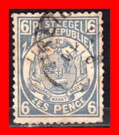 SUID AFRICA SELLO AÑO 1900 6 PENNY SUDÁFRICA TRANSVAAL - Oficiales