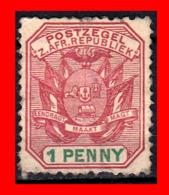 SUID AFRICA SELLO AÑO 1900 1 PENNY SUDÁFRICA TRANSVAAL - Timbres De Service