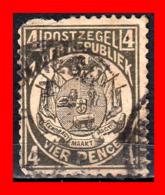 SUID AFRICA SELLO AÑO 1900 4 PENNY SUDÁFRICA TRANSVAAL - Oficiales