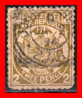 SUID AFRICA SELLO AÑO 1900 2 PENNY SUDÁFRICA TRANSVAAL - Oficiales