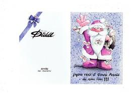 Double Carte DIDDL N° 3 - SOURIS MOUSE - Père Noel - Kontiki - Illustration GOLETZ - Diddl