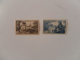 FRANCE  YT451/452 POUR NOS SOLDATS** - France