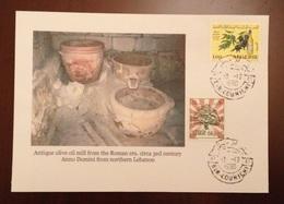 Cover Antique Olive Oil Mill Roman Era From North Lebanon Dec 13th, 1990 Liban - Liban