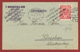 Infla Ab 1 Aug 1921  Inland Drucksache P Winterstein & Sohn Perfin Firmenlochung - 1918-1945 1. Republik