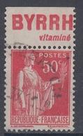 +D3225. France Advertising. BYRRH Vitaminé. Yvert 283 Type III. Braun 746. Cancelled - Advertising