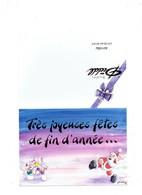 Double Carte DIDDL N° 2 - SOURIS MOUSE - Joyeuses Fêtes Fin D'Année - PERE NOEL Neige Boule Bataille -  GOLETZ - Diddl