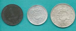 Mozambique - Portuguese Colony - 1 (1945 - KM74) 5 (1949 - KM69) & 10 Escudos (1938 - KM70) - Mozambique