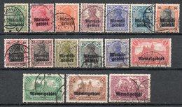 MEMEL 1920 Occupazione Francese - Francobolli Tedeschi Sovrastampati Timbrati - Timbres