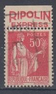 +D3229. France Advertising. RIPOLIN EXPRESS. Yvert 283 Type II. Braun 925. Cancelled - Advertising