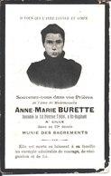 Souvenir Anne Marie Burette Décédée à Saint Raphaël Le 10 Février 1908. Lille. - Religion & Esotericism