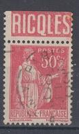 +D3230. France Advertising. RICQLES. Yvert 283 Type II. Braun 909. Cancelled - Advertising