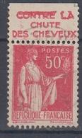 +D3233. France Advertising. HAHN, Contre La Chute Des Cheveux. Yvert 283 Type II. Braun 832, Case 4. Cancelled - Advertising