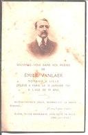 Souvenir Emile Vanlaer Notaire à Lille Décédé à Paris Le 10 Janvier 1929. - Religion & Esotericism