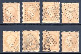 Type Napoléon III / Lot N° 21 Pour Oblitérations - 1862 Napoleon III