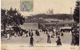69 - LYON - L'Entrée Du Pont Du Palais Et Le Coteau De Fourvière - Trés Ancienne - Andere