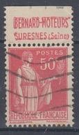 +D3235. France Advertising. Bernard-Moteurs, Suresnes. Yvert 283 Type II. Braun 716. Cancelled - Advertising