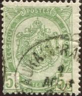 "COB   56  (o) Oblitération ""Gaurain-Ramecroix""  T1L - 1893-1907 Armoiries"