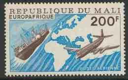 "Mali 1976 Mi 552 YT A285 SG 554 ** Freighter, Vickers Viscount 800, Map, ""Europafrique""/ Frachtschiff, Passagierflugzeug - Mali (1959-...)"