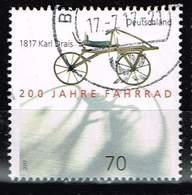 Bund 2017, Michel# 3320 O 200 Jahre Fahrrad - 1817 Karl Drais - Gebraucht