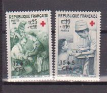 REUNION    N° YVERT  :     370/371        NEUF SANS CHARNIERE        ( N   957     ) - Réunion (1852-1975)