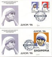 PGL BQ069 - ALBANIE Yv N°2357/58 + BF FDC MOTHER TERESA - Albanie