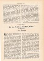 199 Artillerieschulschiff Mars 1 Artikel Mit 4 Bildern Von 1902 !! - Historische Dokumente