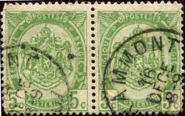 "COB   56  (o) Oblitération ""Grammont"" T1L - 1893-1907 Armoiries"