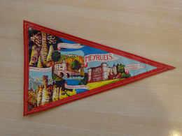 Fanion Touristique France MEYRUEIS  (vintage Années 60) - (Vaantje - Wimpel - Pennant - Banderin) - Obj. 'Souvenir De'