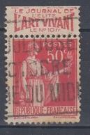 +D3242. France Advertising. L'ART VIVANT. Yvert 283 Type I. Braun 710 Case 1. Cancelled - Advertising
