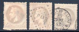 Empire Lauré / Lot N° 27 Pour Oblitérations - 1863-1870 Napoléon III Lauré