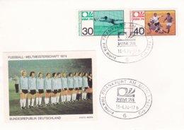 Germany Cover 1974 FIFA World Cup Football Germany - Frankfurt Am Main (G99-1) - Coppa Del Mondo