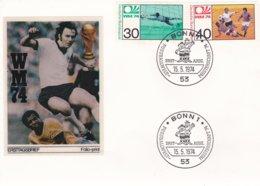 Germany Cover 1974 FIFA World Cup Football Germany - FDC Bonn  (G99-1) - Coppa Del Mondo