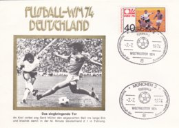 Germany Cover 1974 FIFA World Cup Football Germany - München DDR-Netherlands Final 2:1  (G99-1) - Fußball-Weltmeisterschaft
