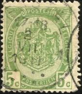 "COB   83  (o) Oblitération ""Herstal 1 "" T4R - 1893-1907 Armoiries"