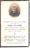 Souvenir François Louis Dubois époux De Alphonsine Dubois Décédé Le 27 Juillet 1926 à Sars Rosières. - Religion & Esotericism