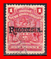 RHODESIA 1909 SOUTH AFRICA  POSTAGE 1 PENNY  STAMP POSTZEGEL Z. AFR. - Oficiales