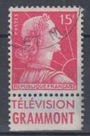 +D3244. France Advertising. GRAMMONT. Yvert 1011. Braun 1218. Cancelled - Advertising