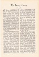 205 Der Automobilismus Daimler Mercedes 1 Artikel Mit 3 Bildern Von 1902 !! - Auto & Verkehr