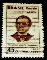 Brazil, 1966, Famous Person, Historian, Francisco A. Varnhagen. - Célébrités