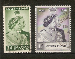 CAYMAN ISLANDS 1948 SILVER WEDDING SET FINE USED Cat £33 - Cayman Islands